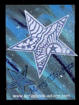 MIchael Strong Cloisonne Stamp Christmac Card