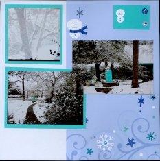 Winter Snow Scrapbook Layout
