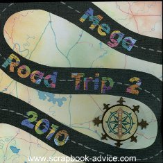 Road Trip Scrapbook Cover Layout