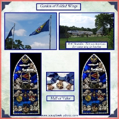 8th Air Force Museum Scrapbook Layout