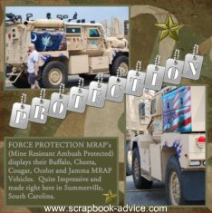 Air Show Scrapbook Layout Force Protection MRAP