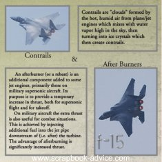 Air Show Scrapbook Layout  F-15