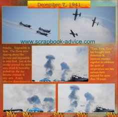 Air Show Scrapbook Layout Tora Tora Tora Scrapbook