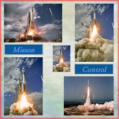 Atlas Missile Digital Scrapbook Layout