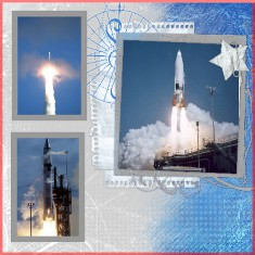 Atlas Missle Digital Scrapbook Layout