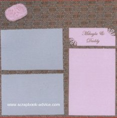Baby and Daddy Scrapbook Page Layout