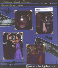 Ballroom Dance Scrapbook Layout for 12 x 15 inch albums