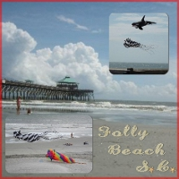 Beach Digital Scrapbook Layouts