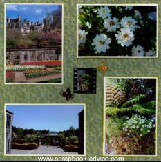 Biltmore Estate Scrapbook Layout