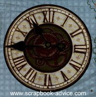 Clock Scrapbook Embellishment for Retirement Scrapbook Layout Ideas