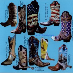 Scrapbook Layout using full page Die Cut of Boots with Cheyenne WY boots