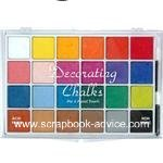 Scrapbook Chalk Set 24 colors