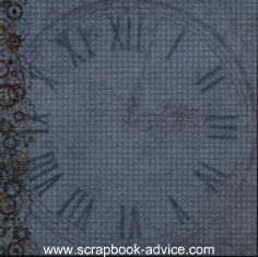 Chalk on Scrapbook Page to alter background for clock image