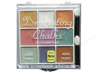 Scrapbooking Decorating Chalk Glimmer set of 9 different colored metallic chalks