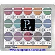 Scrapbooking Chalk Pebbles I Kan dee Pearlesent chalks in 30 different colors