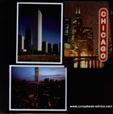 Chicago Scrapbook Layout Idea