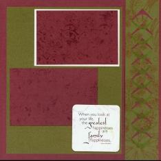 Christmas Scrapbook Layout Club Scrap