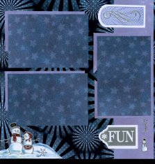 Christmas Scrapbook Layouts with Personal Shopper Kits