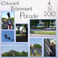 Retirement Parade Scrapbook Themed Album First Page Layout