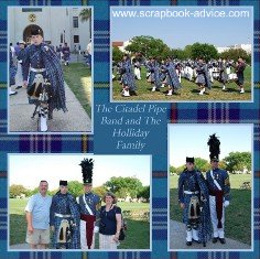 Citadel Parade Retirement Scrapbook Layouts