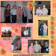 Retirement Scrapbook Layout Ideas