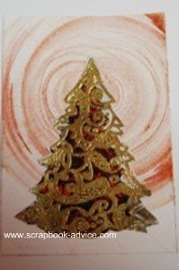 MIchael Stroung Cloisonne Christmas Tree used on Christmas Card