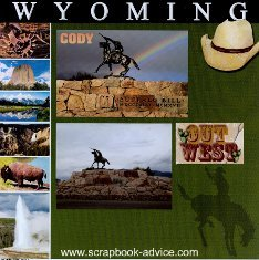 Cody Wyoming Western Scrapbook Layout