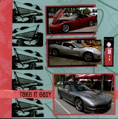 Corvette Car Show Scrapbook Layouts
