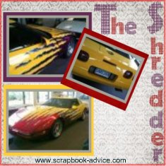 Custom Corvette Scrapbook Layout using phone photos