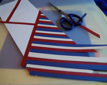 Bargello Scrapbook Embellishments Tutorial for making embellishments for your scrapbook layouts