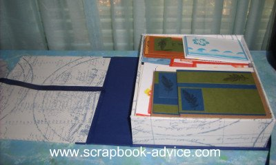 Home Decor Items with Scrapbook Supplies