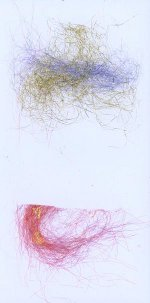 DicroFibers used as Scrapbook Embellishments or accents for Hand Made Cards