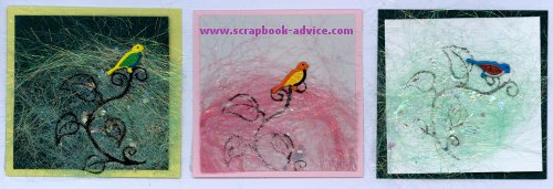 Hand made greeting cards using Bird Shaped Brads for scrapbooking