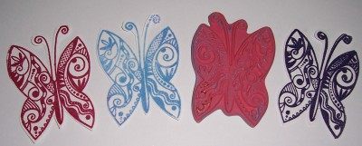 Embossing Michael Strong Butterfly Cloisonne Stamp