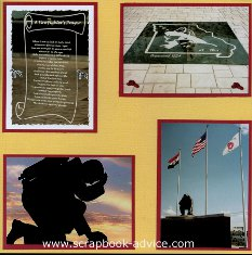 Firefighters Scrapbook Layout of Missouri Memorial with Firefighters Prayer
