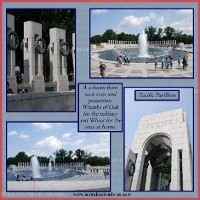 Honor Flight Scrapbook Layouts for Memorial Day