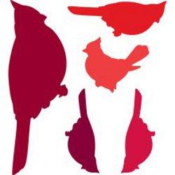 Heartfelt Creations Cardinal Family Spellbinders Die Cutters