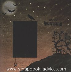 Halloween Scrapbooking Layout using items from Personal Shopper and Halloween Dazzles