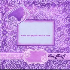 Ink Pad Direct to Paper Tutorial Scrapbook Layout