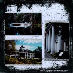 Magnolia Plantation Scrapbook Bridge & House