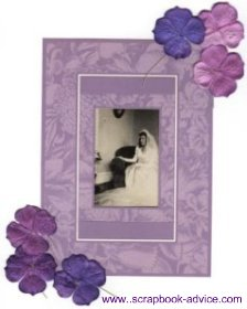 Heritage Photo Scrapbook Layout