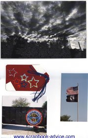 Vietnam Memorial Scrapbook Layout