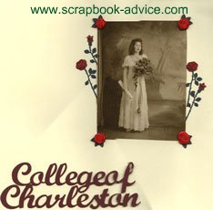 College Graduation Scrapbook Layout