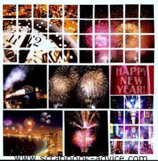 Mosaic Scrapbook Layout Kit using Fireworks Photos from New Years eve