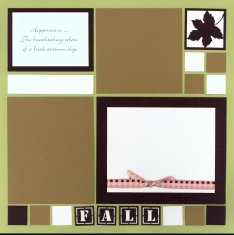 Mosaic Fall Scrapbook Layout Page Kit titled Fall