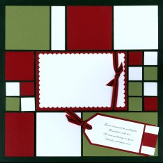 Mosaic Christmas Scrapbook Page Kit