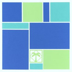 Mosaic Scrapbook Layout Kit using Royal Palms Kit