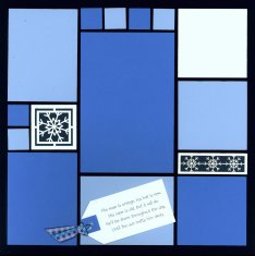 Mosaic Snow Scrapbook Layout Kit  Winter Fun with Snowmen