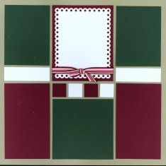 Mosaic Gingerbread Scrpabook Layout Kit Christmas Goodies with Gingerbread Men