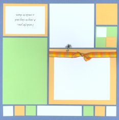 Mosaic Summer Scrapbook Page Kit Song to Sing